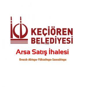Keçiören Belediyesi Arsa Satış İhalesi... (12.09.2019)