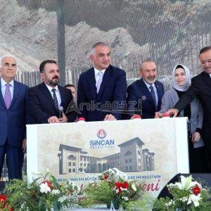 Ankara'nın en büyük kültür ve kongre merkezinin temeli Sincan'da atıldı...