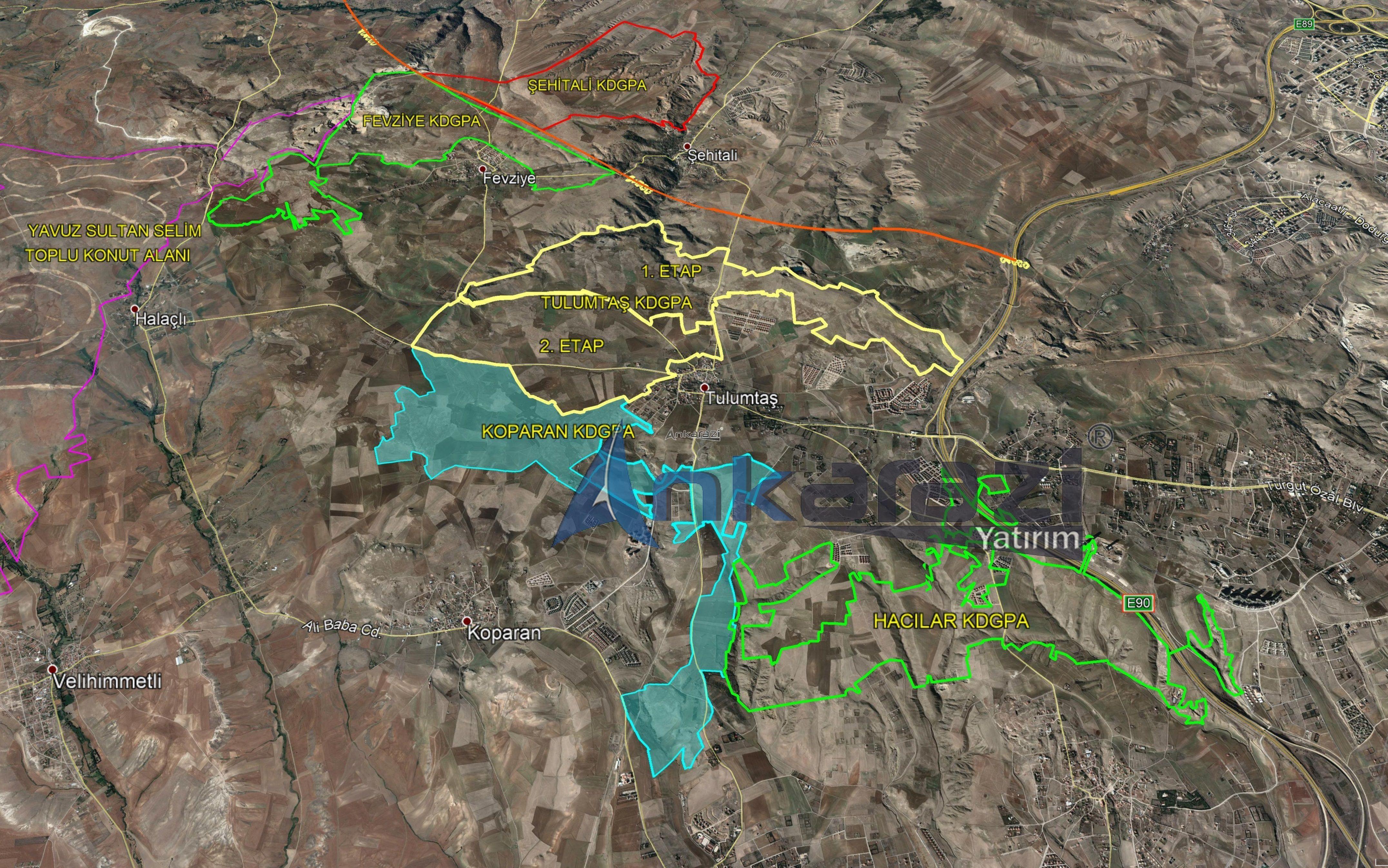 Koparan - Tulumtaş KDGPA Sınırları... 3347