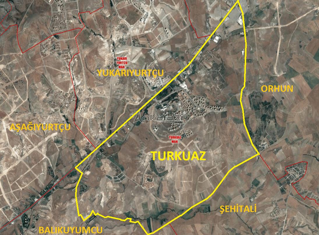 Eskişehir Yolu: Turkuaz, Atayurt ve Orhun Mahalle Sınırları... 3324