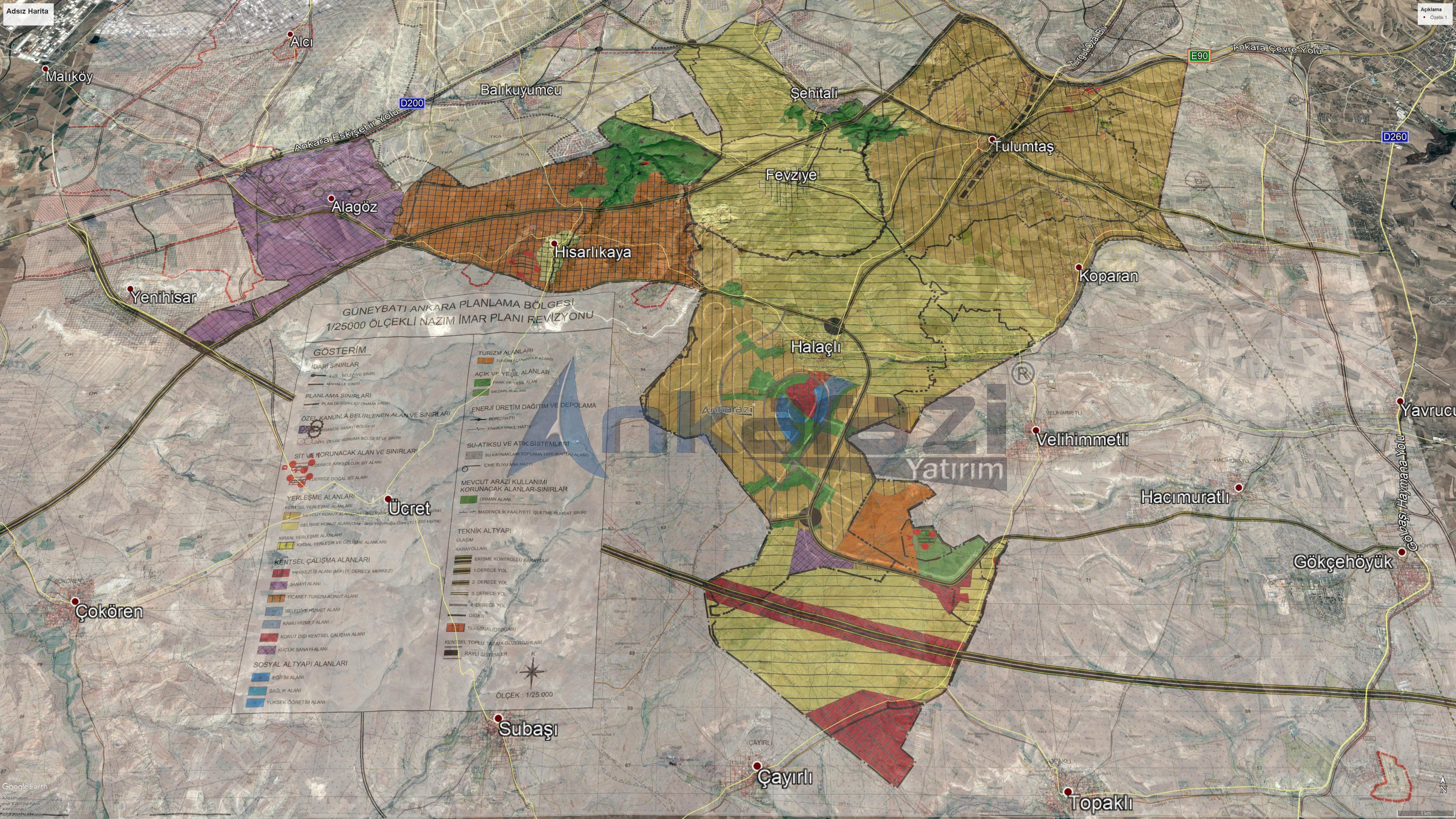 Güneykent 1/25000'lik Planları Askıda... 3352