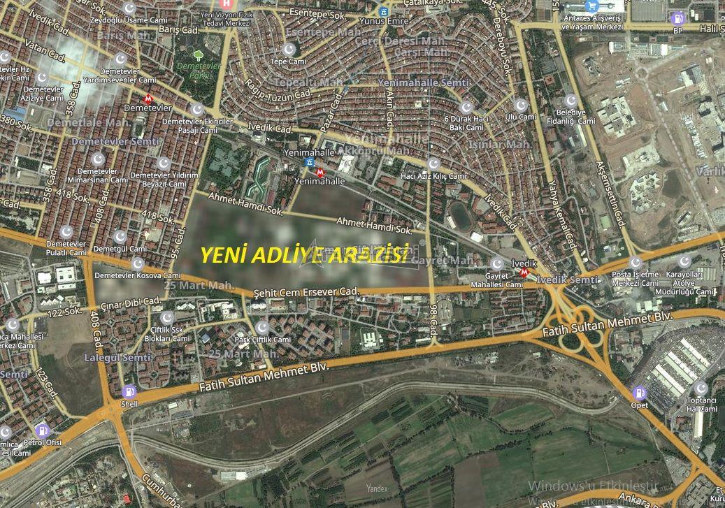 Büyük Ankara Adliyesi Yenimahalle'ye Yapılacak…