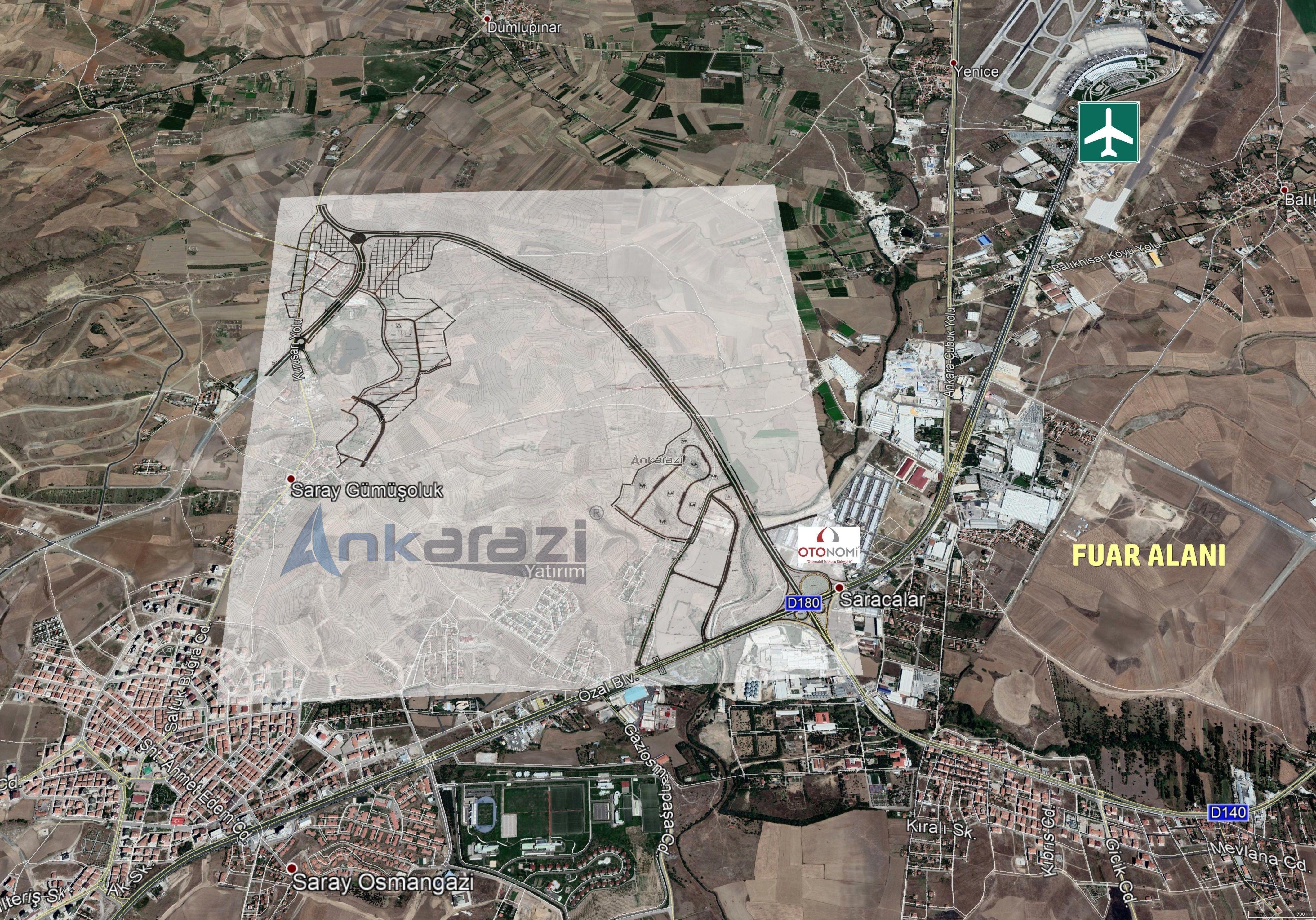Pursaklar/Saray - Otonomi Kavşağı Bağlantı Yolu Planı Askıda... 3487