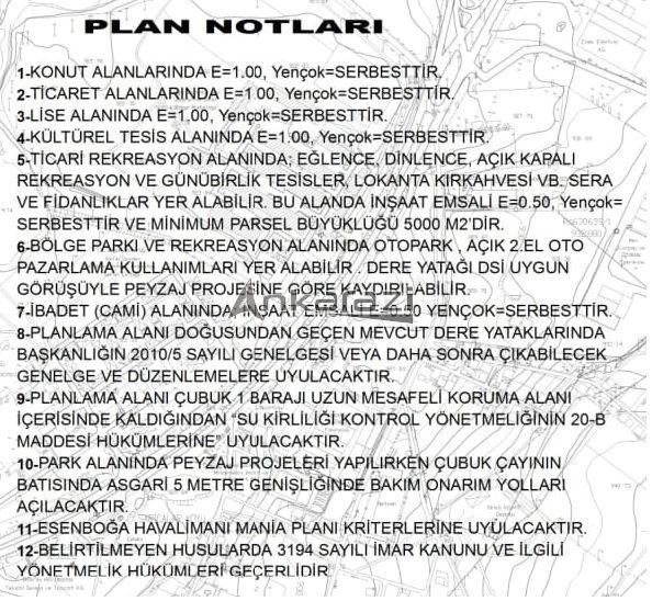 Pursaklar/Saray - Otonomi Kavşağı Bağlantı Yolu Planı Askıda... 3489