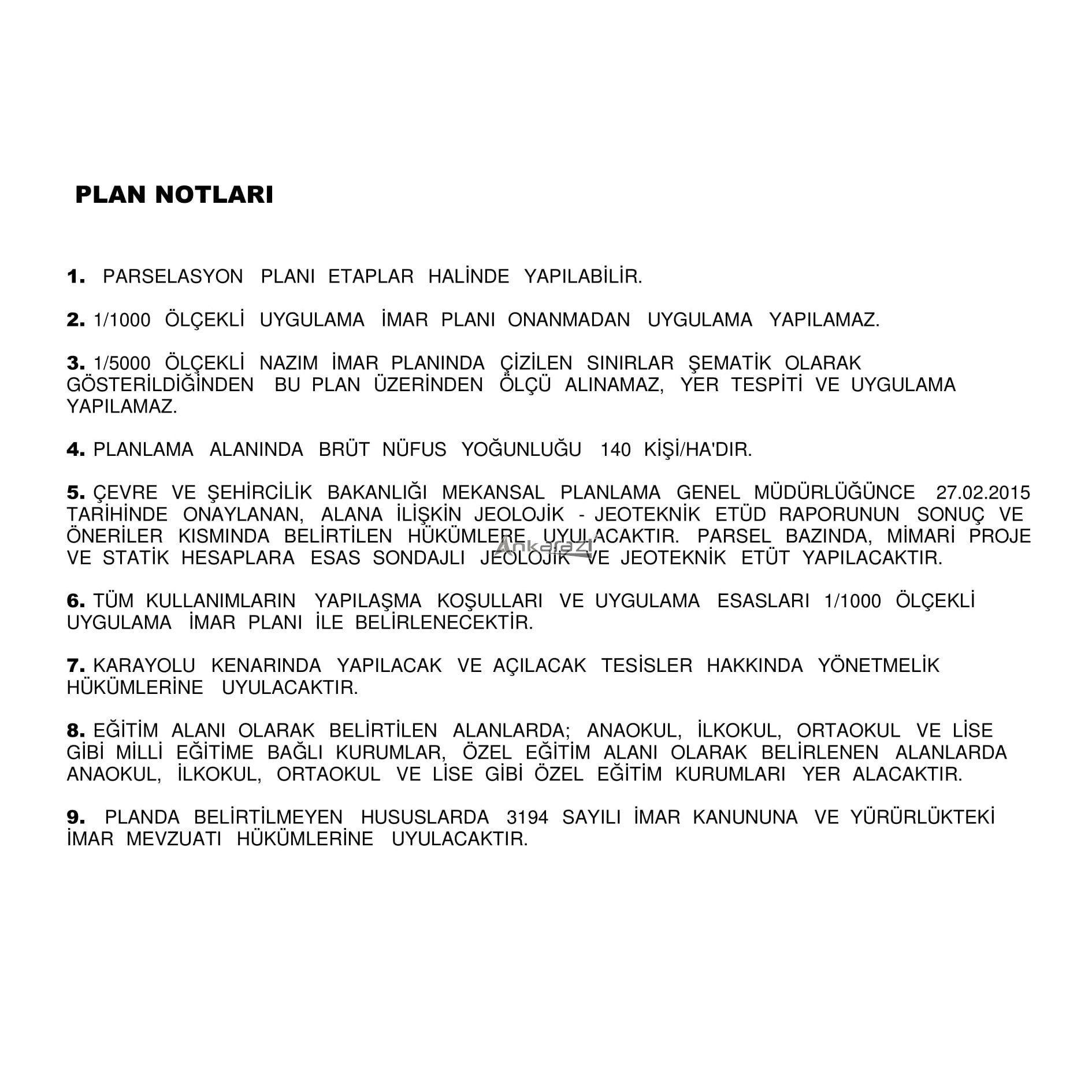 Mamak / Kusunlar TOKİ Etrafı 5000'lik Planı Askıda... 3579