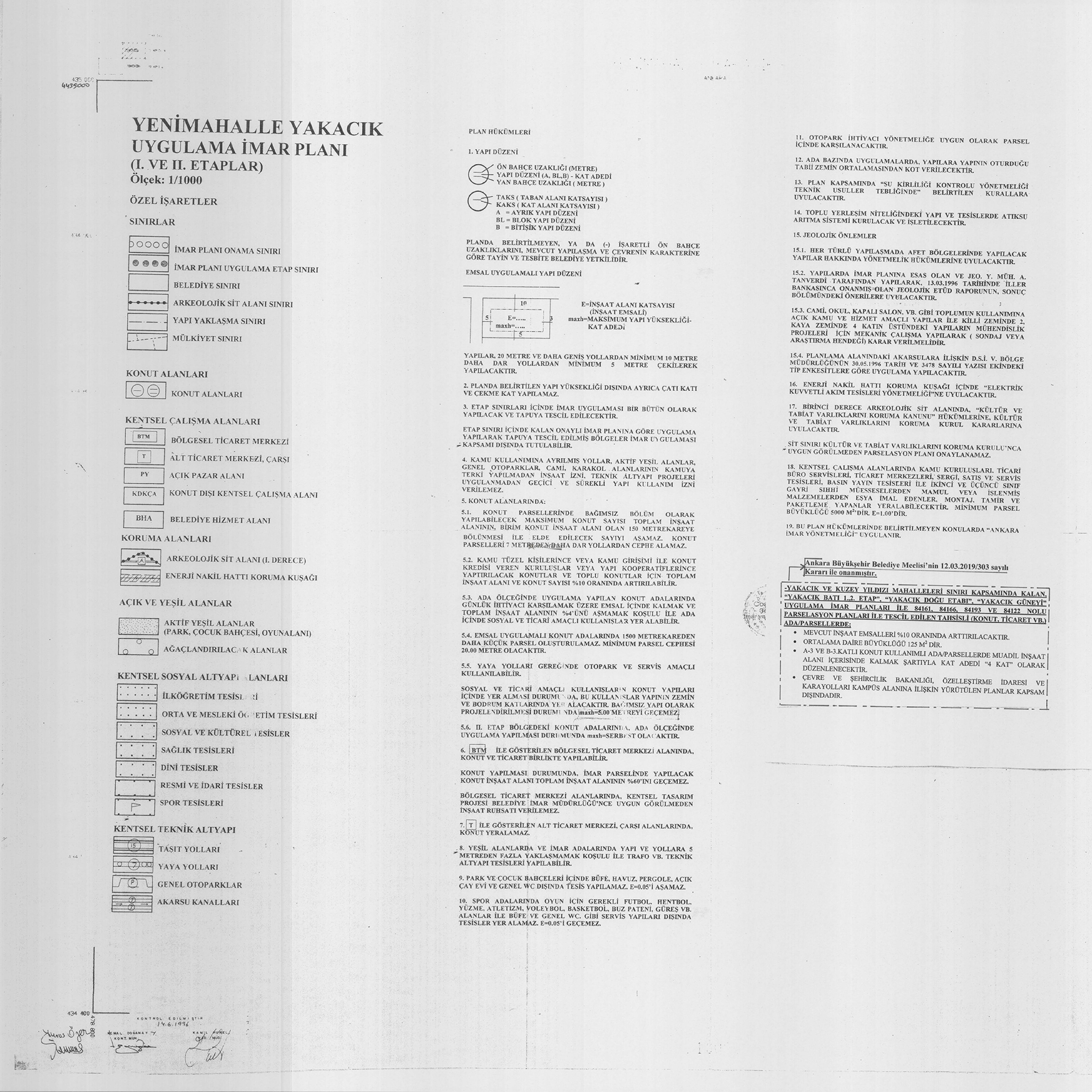Yenimahalle-Yakacık ve Kuzey Yıldızı, Plan Notu Değişikliği... 3681