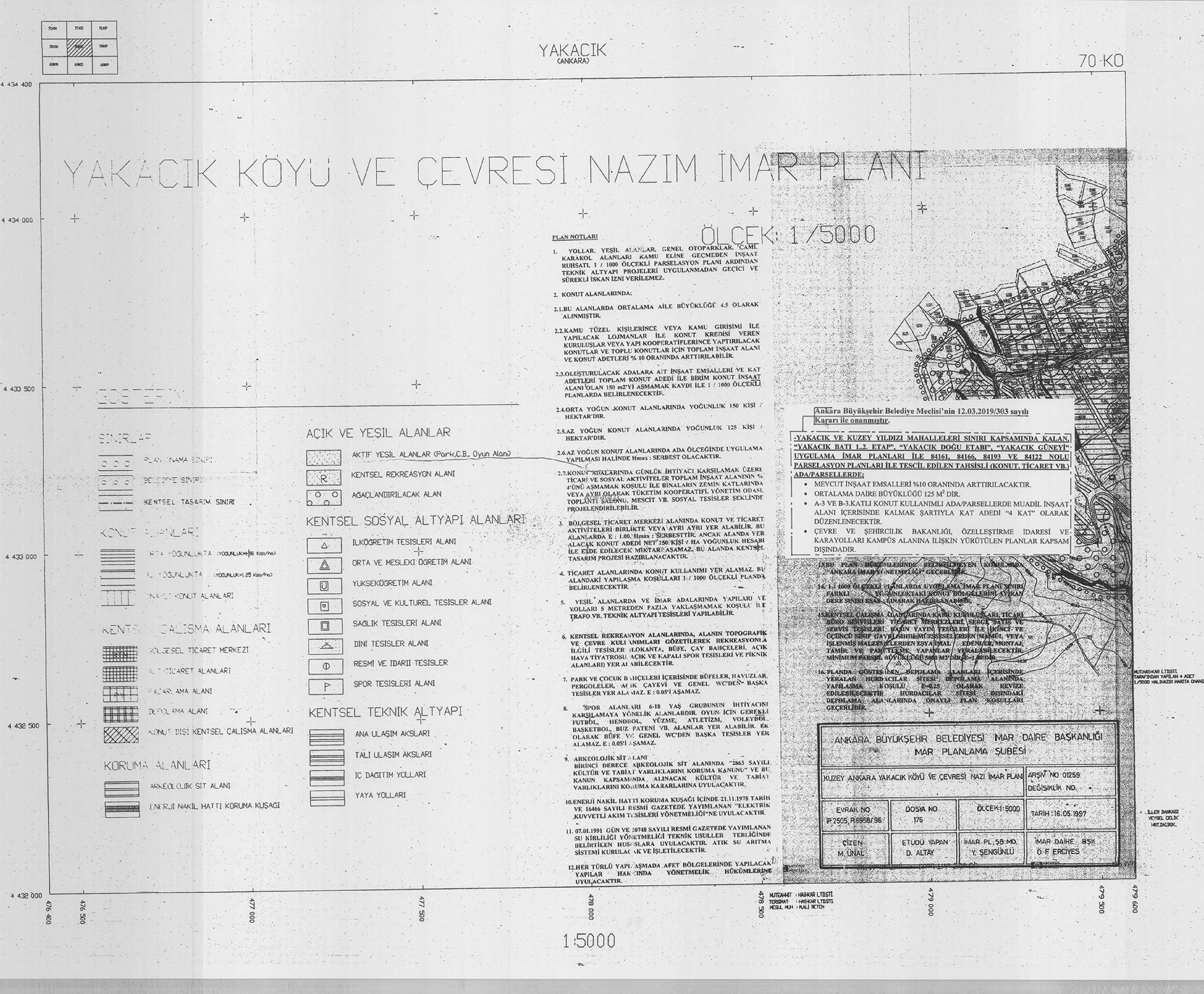 Yenimahalle-Yakacık ve Kuzey Yıldızı, Plan Notu Değişikliği... 3682