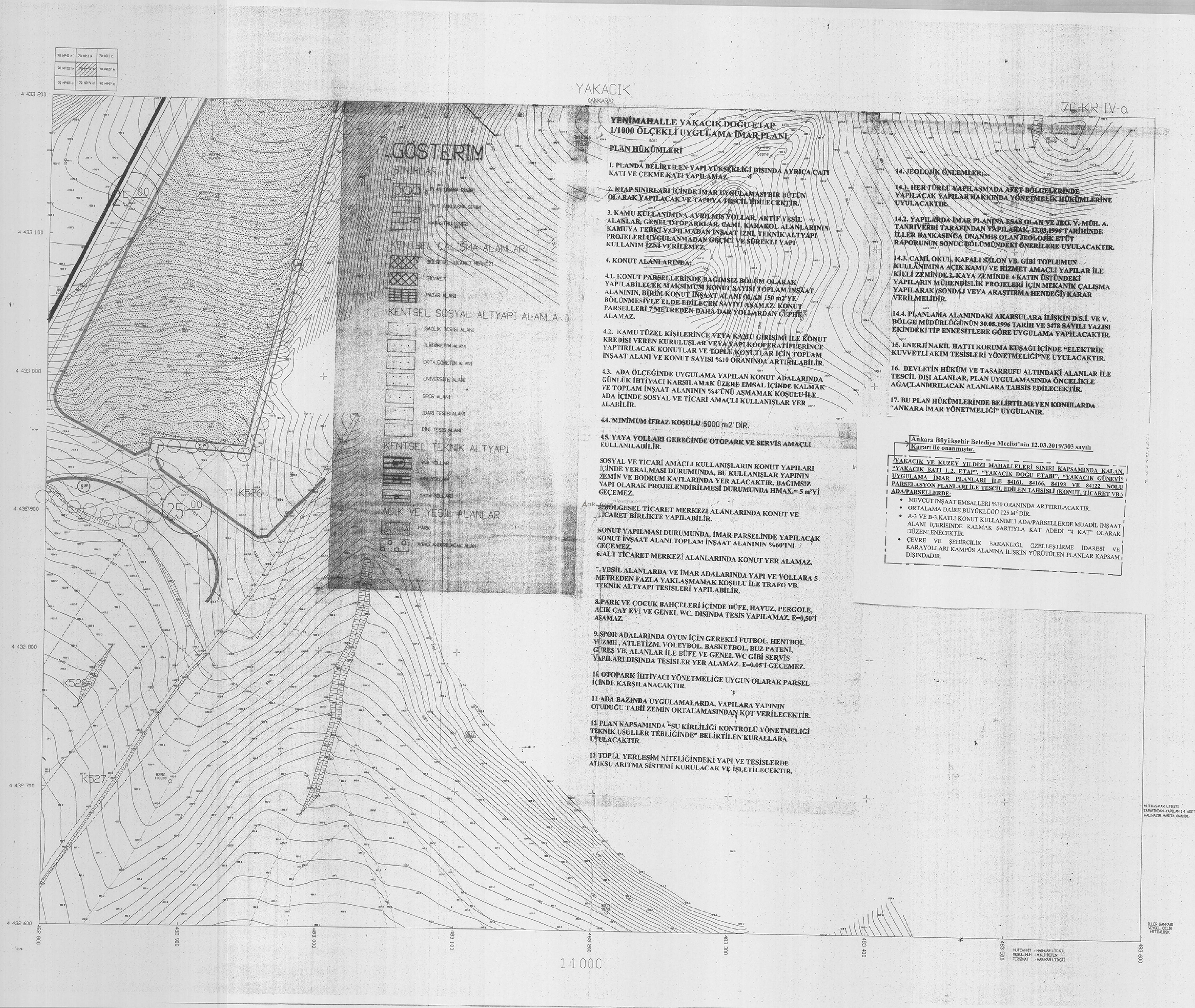 Yenimahalle-Yakacık ve Kuzey Yıldızı, Plan Notu Değişikliği... 3680