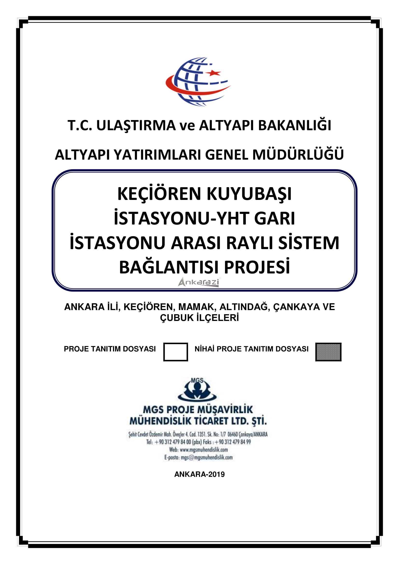 Keçiören-Siteler-YHT Garı Metro Hattı, Nihai Proje Dosyası... 3688