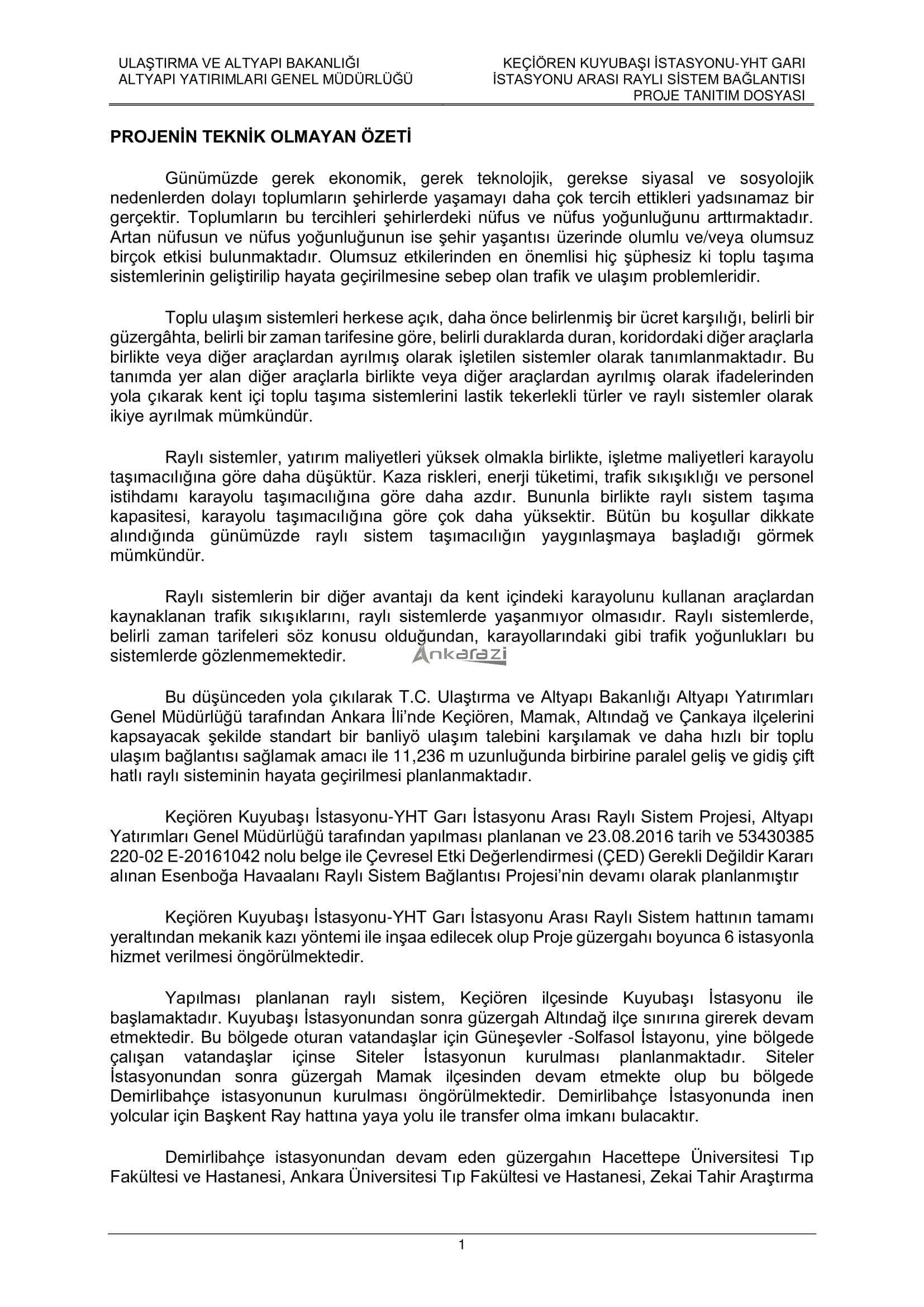 Keçiören-Siteler-YHT Garı Metro Hattı, Nihai Proje Dosyası... 3689