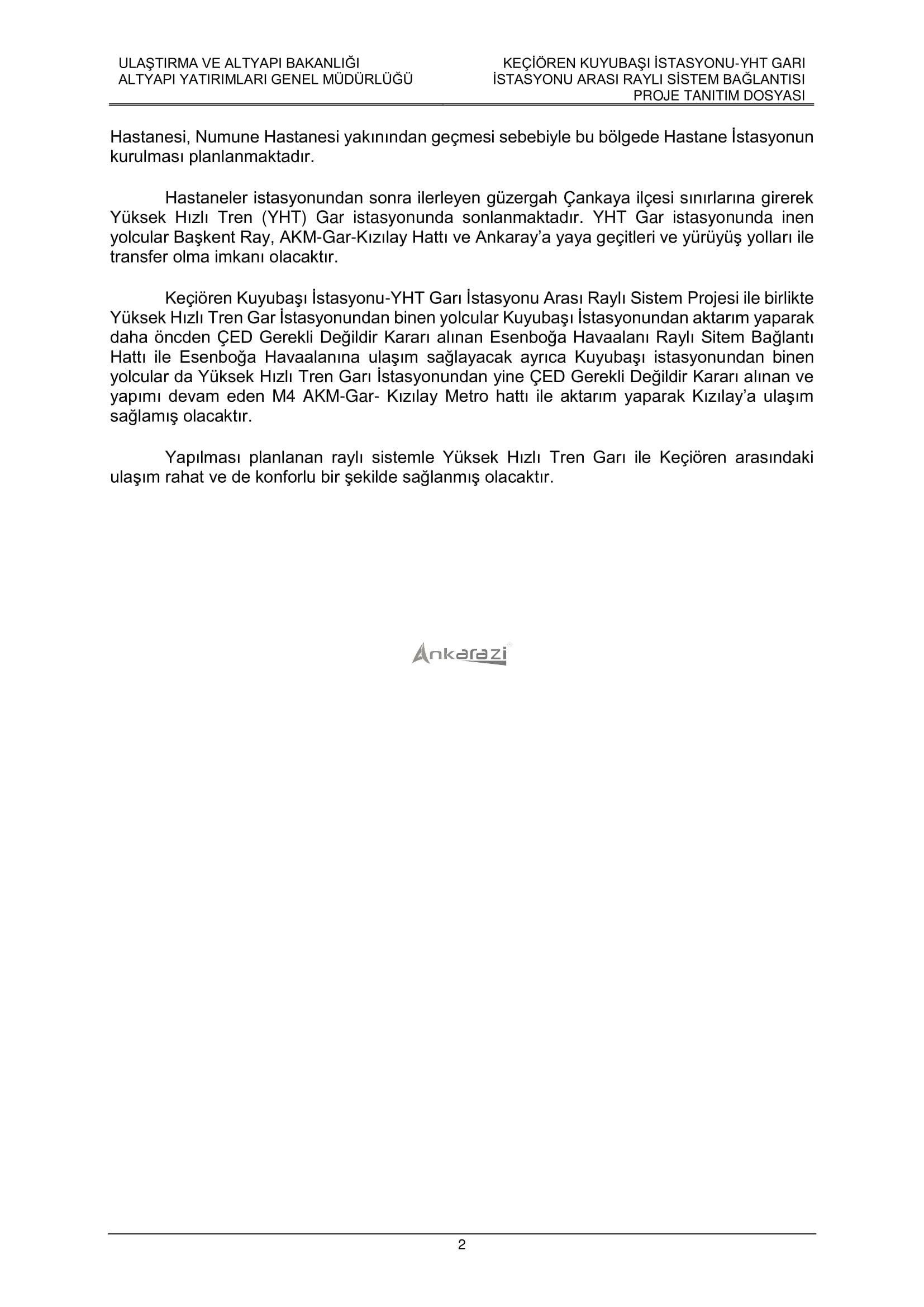 Keçiören-Siteler-YHT Garı Metro Hattı, Nihai Proje Dosyası... 3690