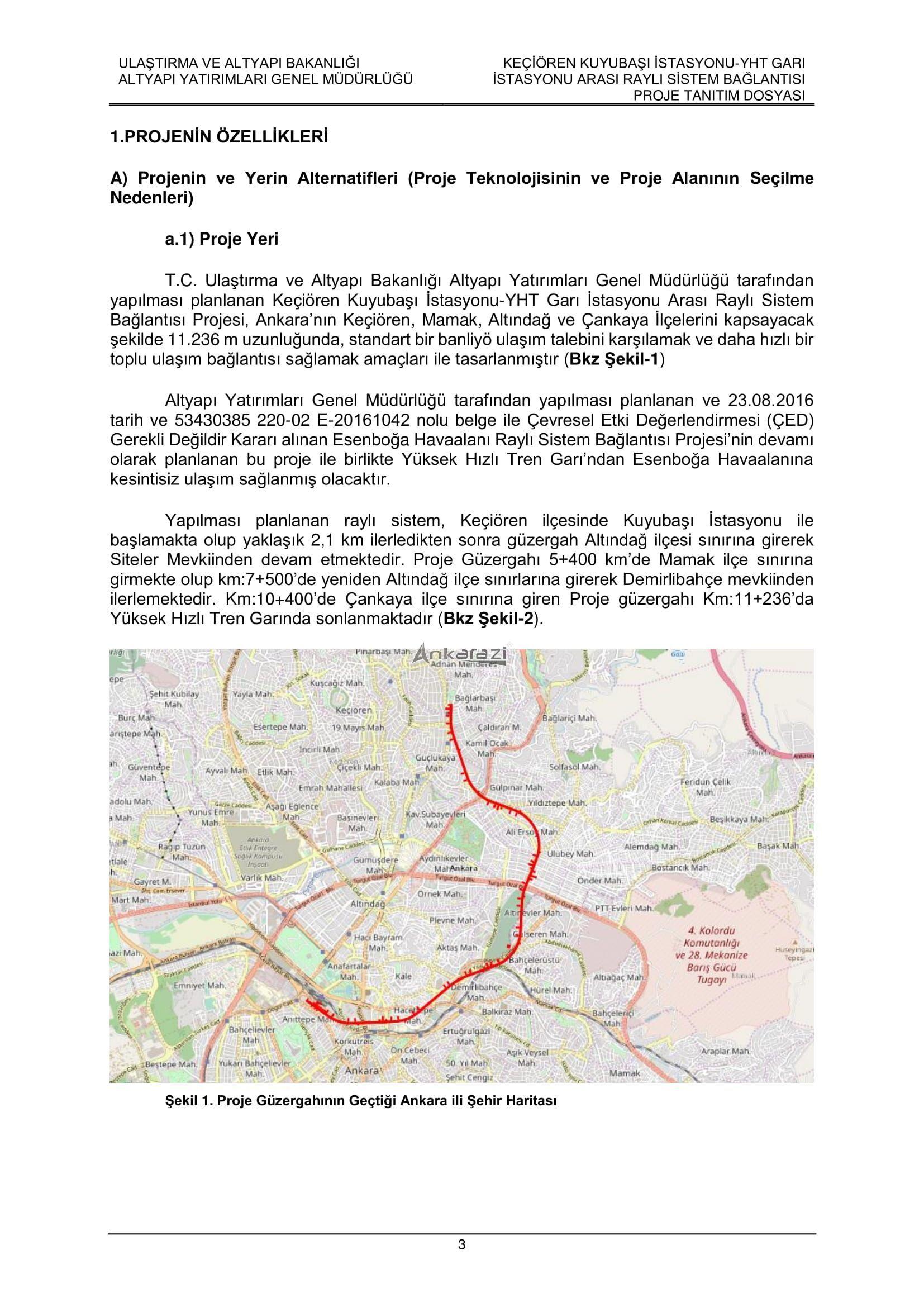 Keçiören-Siteler-YHT Garı Metro Hattı, Nihai Proje Dosyası... 3691