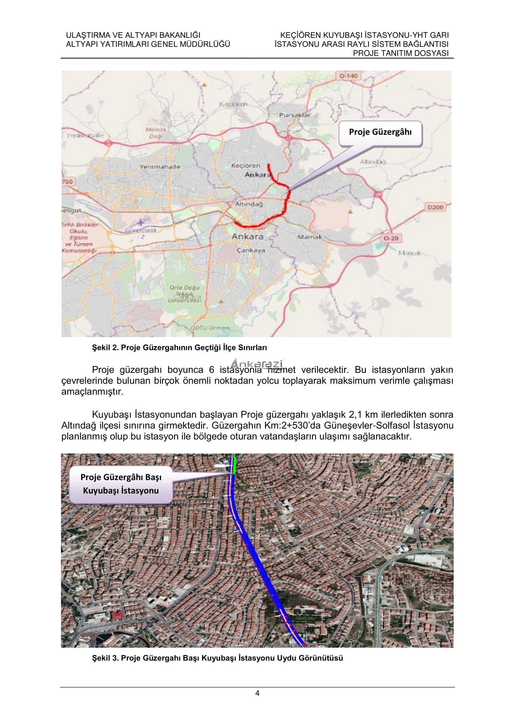 Keçiören-Siteler-YHT Garı Metro Hattı, Nihai Proje Dosyası... 3692