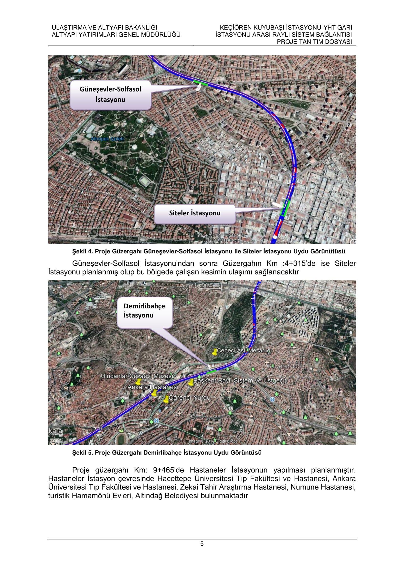 Keçiören-Siteler-YHT Garı Metro Hattı, Nihai Proje Dosyası... 3693