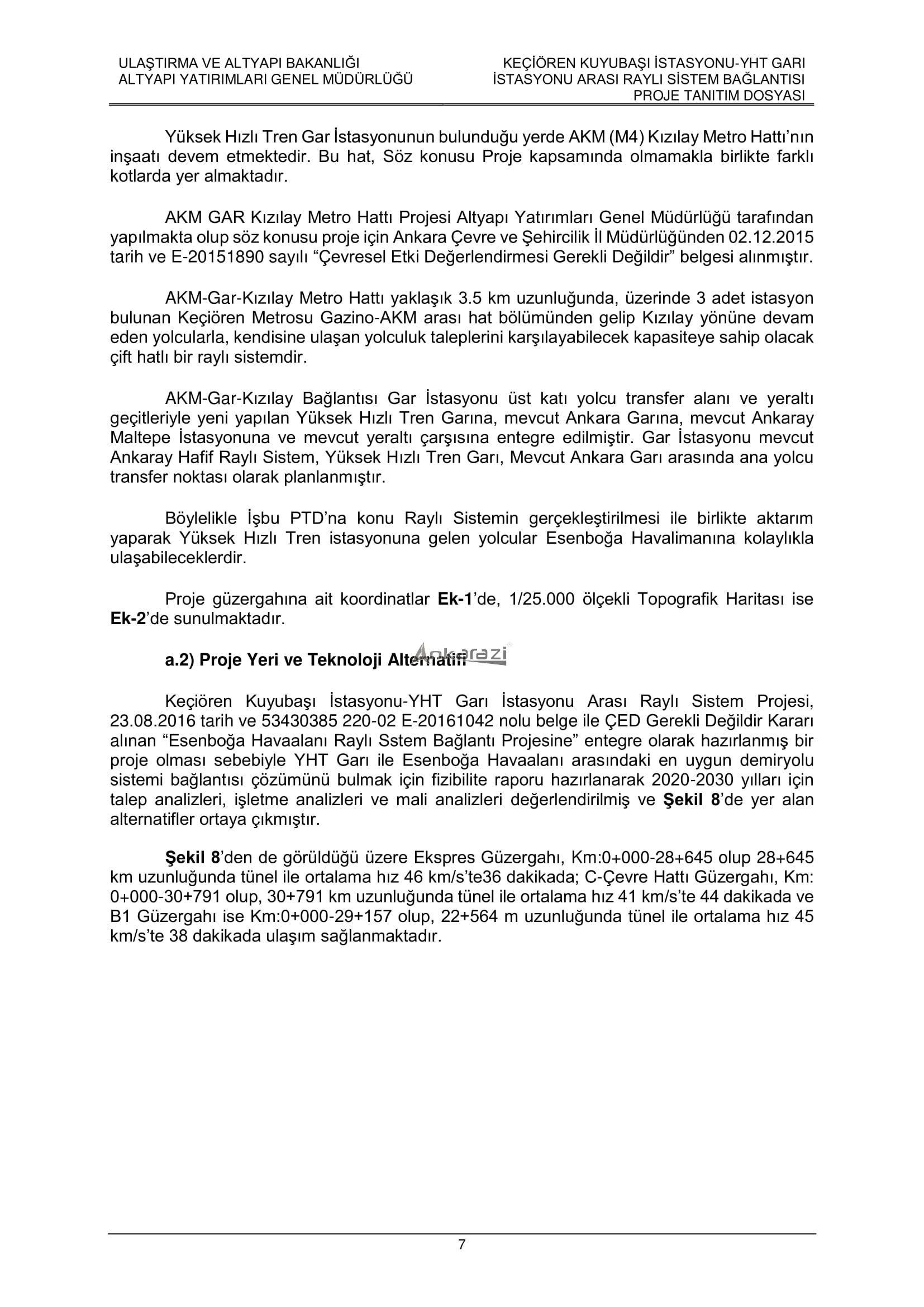 Keçiören-Siteler-YHT Garı Metro Hattı, Nihai Proje Dosyası... 3695