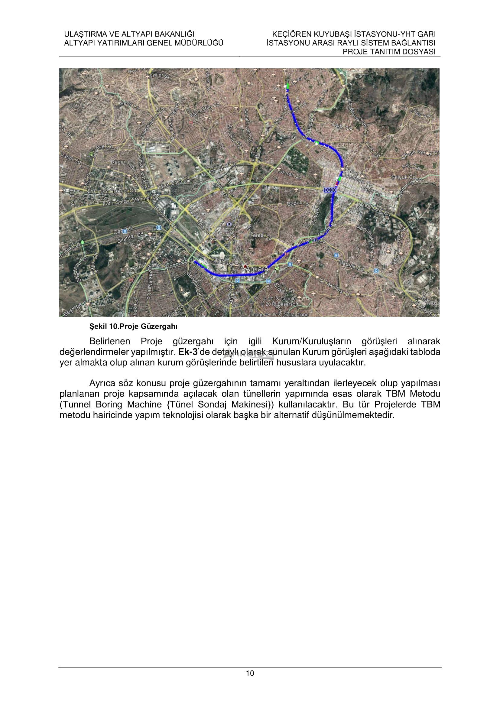 Keçiören-Siteler-YHT Garı Metro Hattı, Nihai Proje Dosyası... 3697