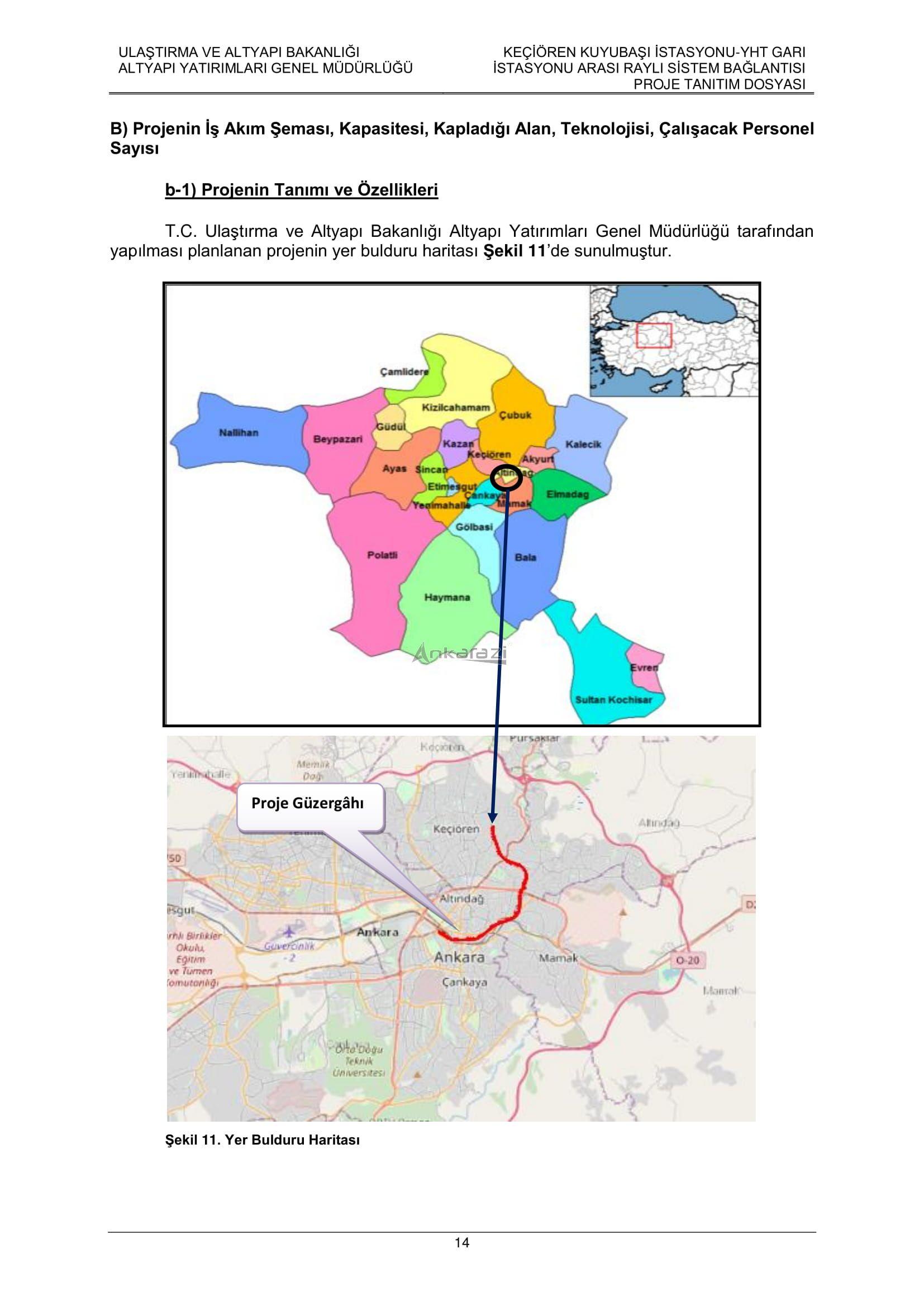 Keçiören-Siteler-YHT Garı Metro Hattı, Nihai Proje Dosyası... 3698