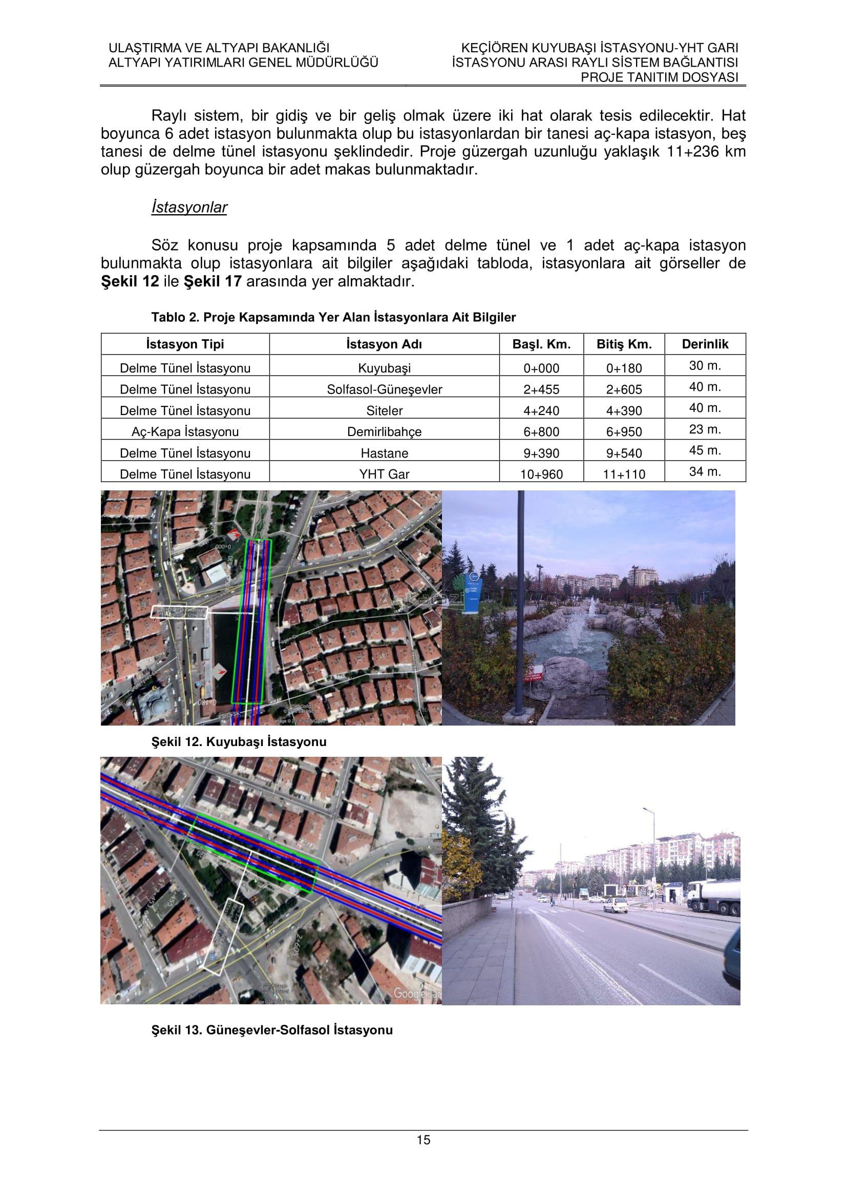 Keçiören-Siteler-YHT Garı Metro Hattı, Nihai Proje Dosyası... 3699