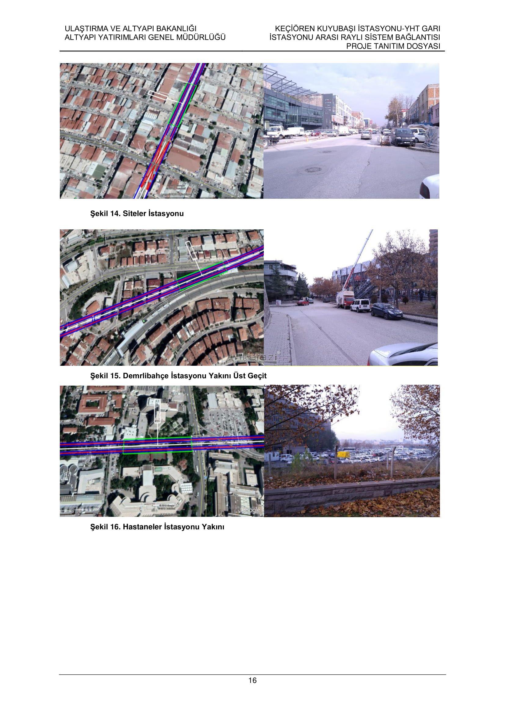 Keçiören-Siteler-YHT Garı Metro Hattı, Nihai Proje Dosyası... 3700