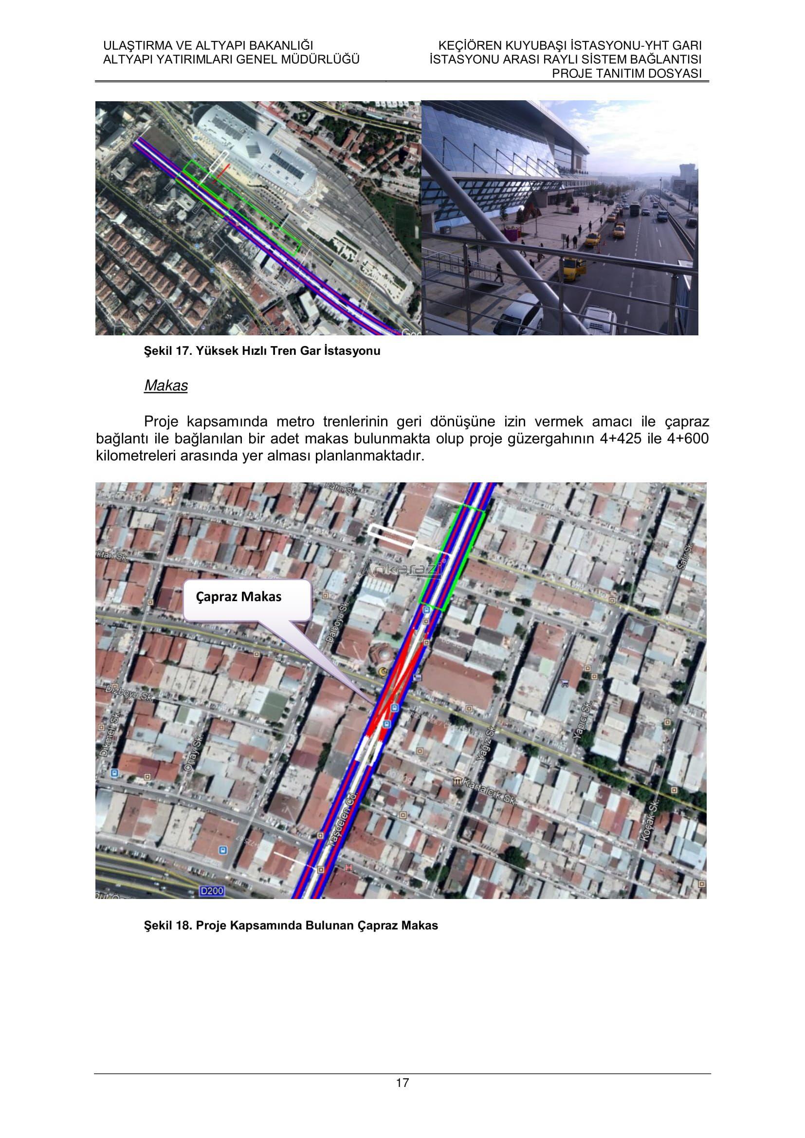 Keçiören-Siteler-YHT Garı Metro Hattı, Nihai Proje Dosyası... 3701