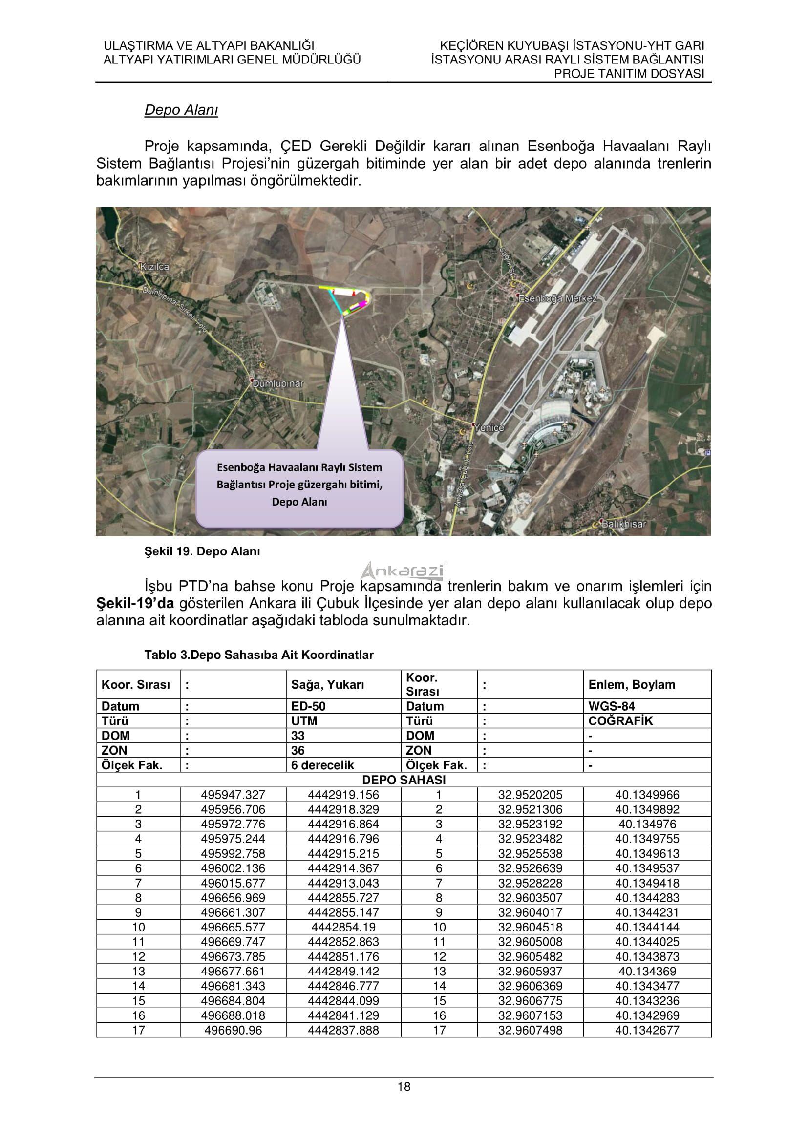 Keçiören-Siteler-YHT Garı Metro Hattı, Nihai Proje Dosyası... 3702