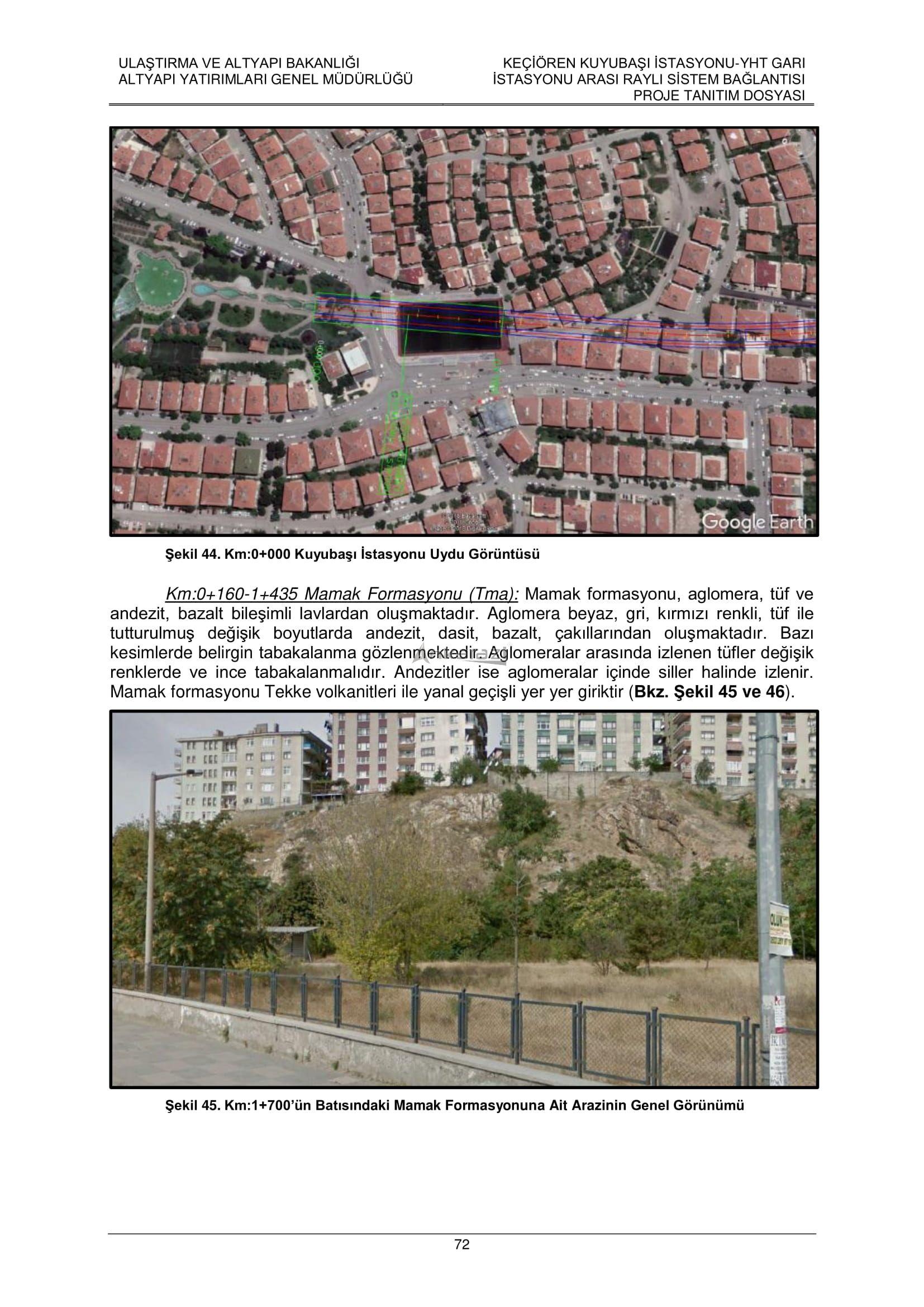 Keçiören-Siteler-YHT Garı Metro Hattı, Nihai Proje Dosyası... 3704
