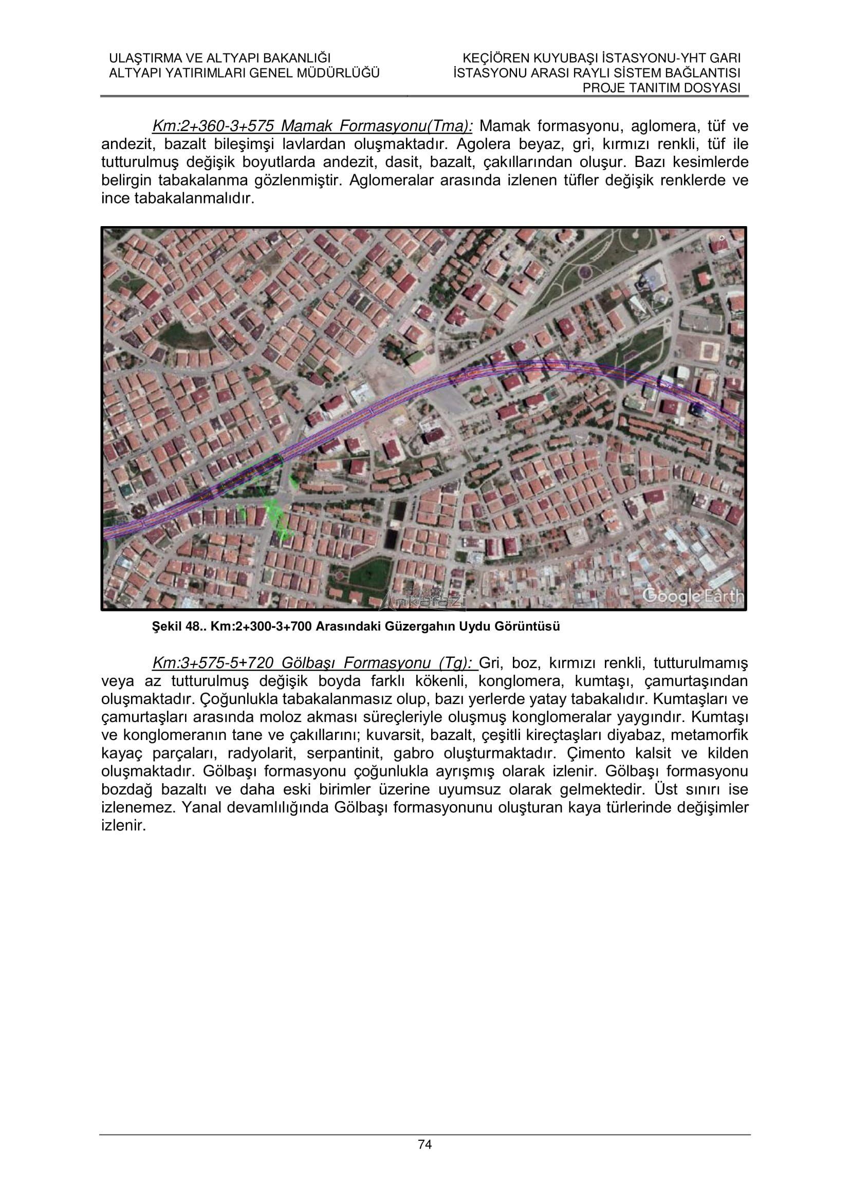 Keçiören-Siteler-YHT Garı Metro Hattı, Nihai Proje Dosyası... 3706