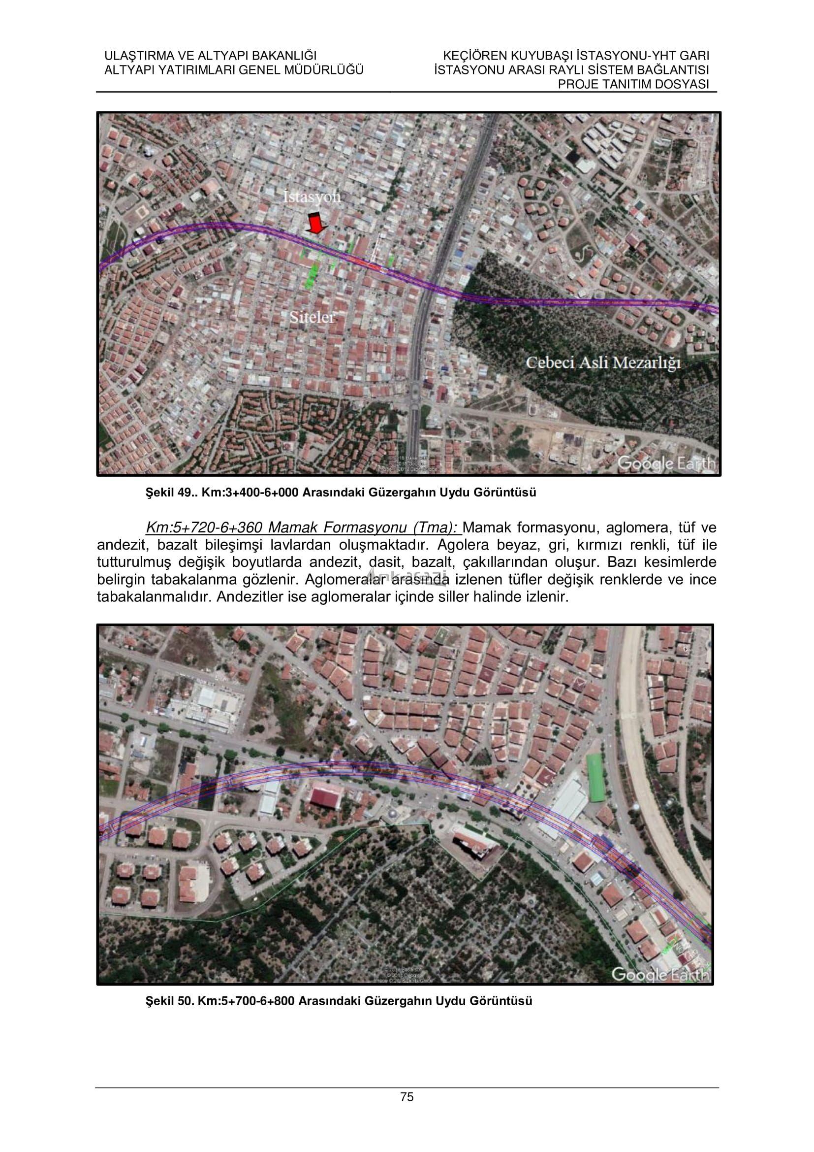 Keçiören-Siteler-YHT Garı Metro Hattı, Nihai Proje Dosyası... 3707
