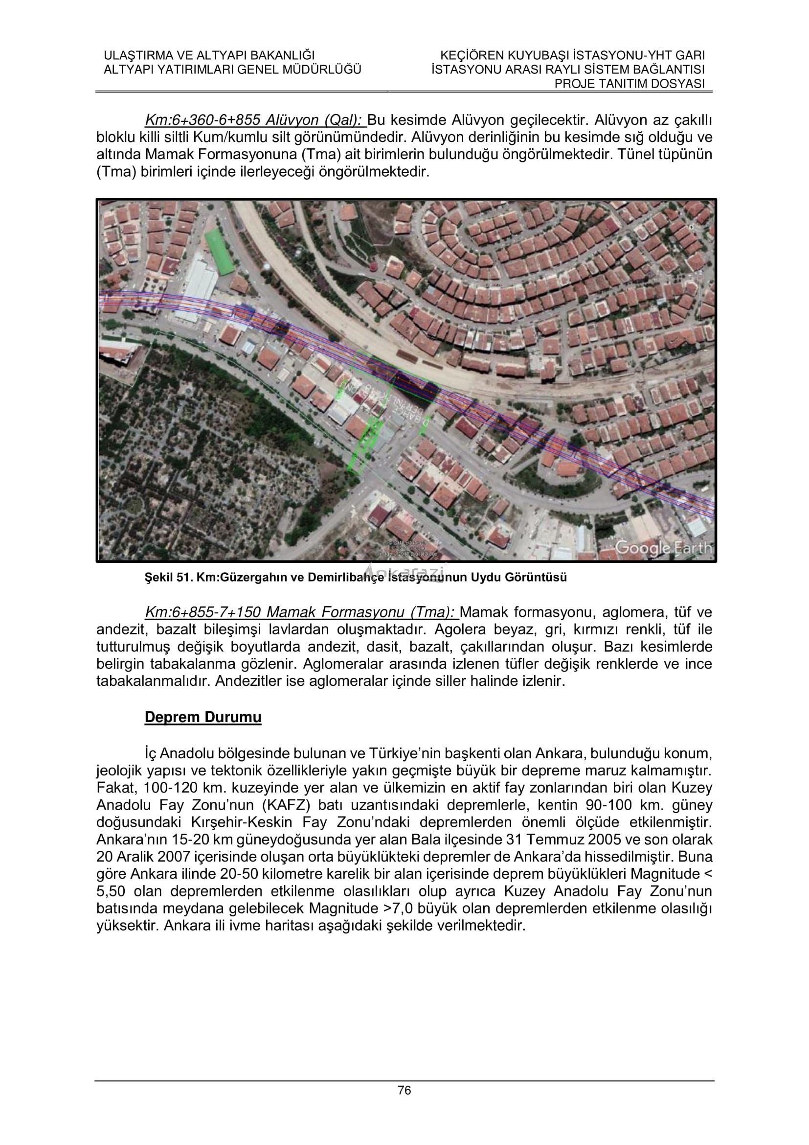 Keçiören-Siteler-YHT Garı Metro Hattı, Nihai Proje Dosyası... 3708
