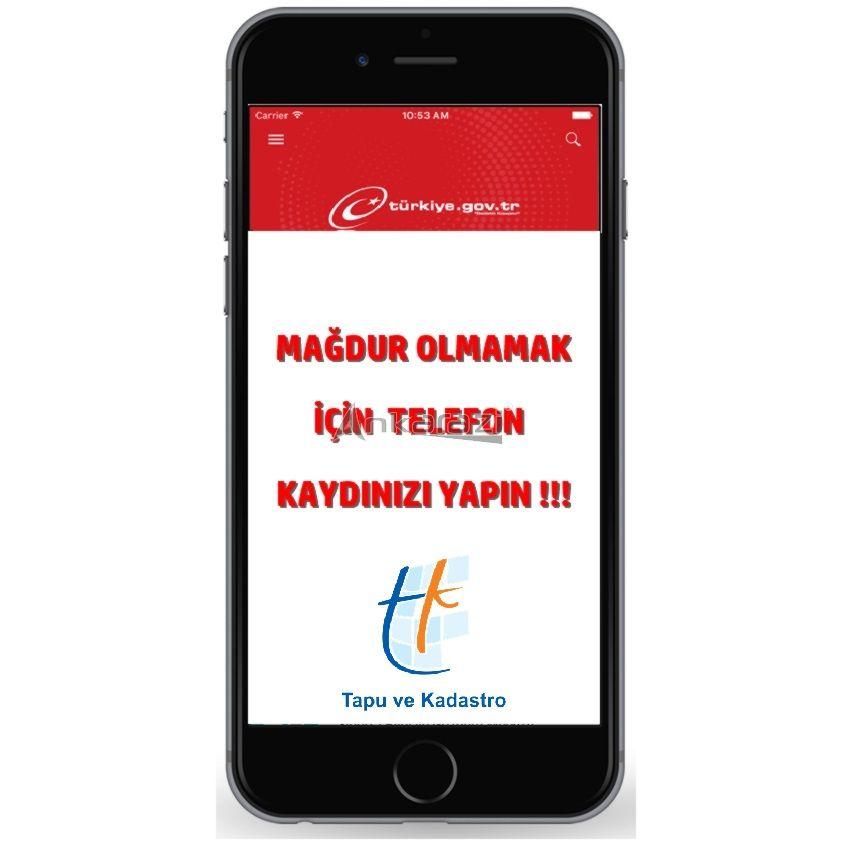 E- DEVLETE TELEFON KAYDI YAPIN, MAĞDUR OLMAYIN…