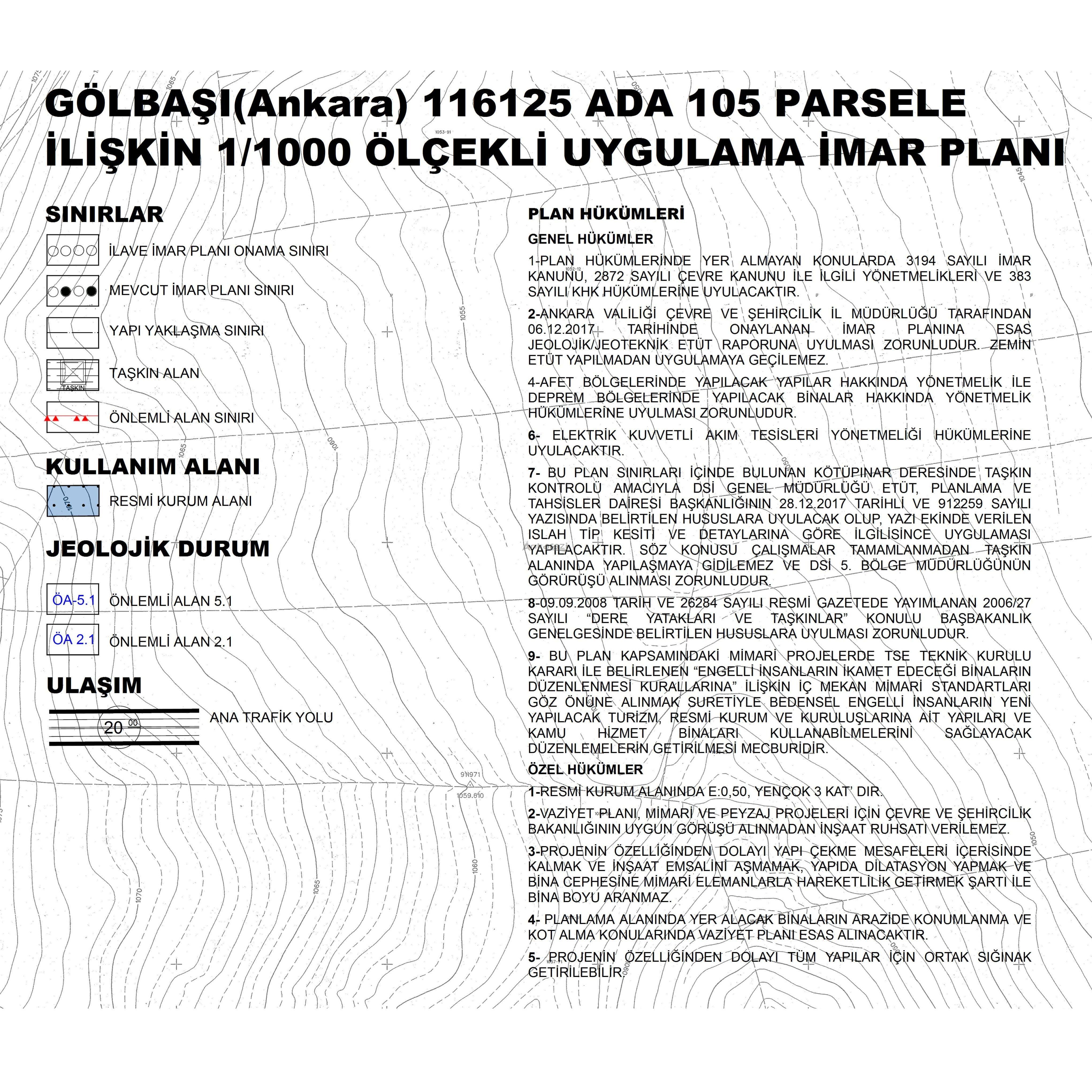 Gölbaşı-Yağlıpınar, Resmi Kurum İmar Planı Askıda... 3761