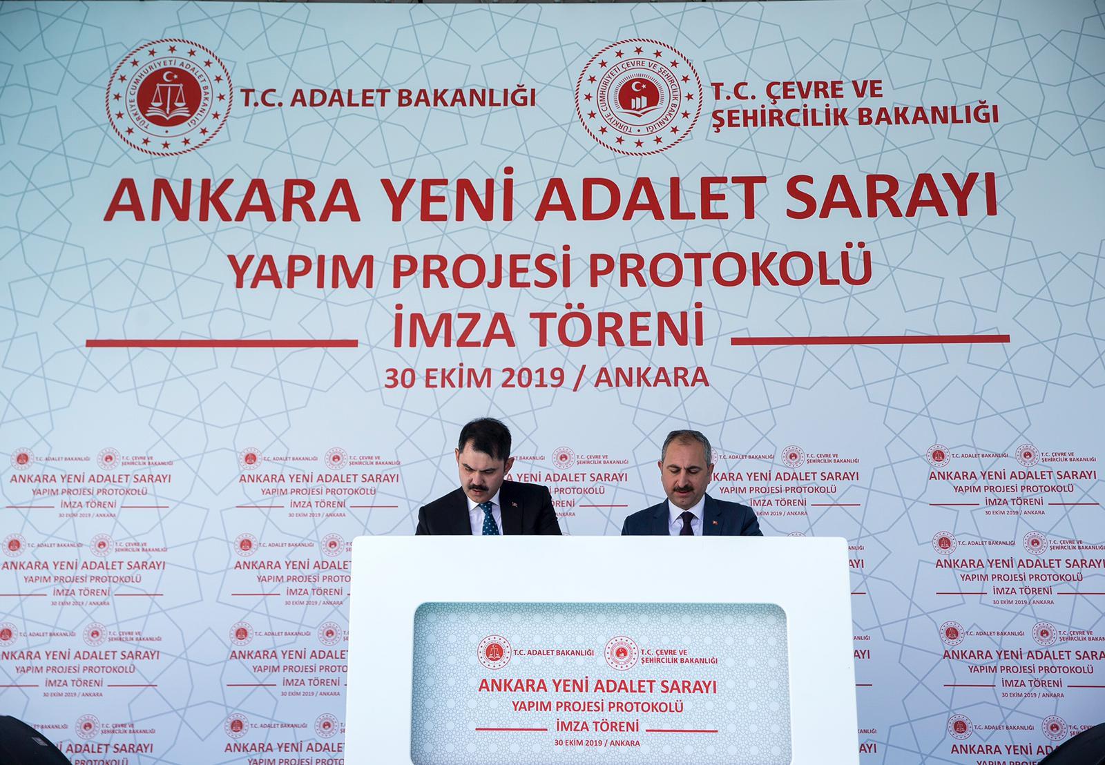 Büyük Ankara Adliyesi'nin İmza Töreni Yapıldı…