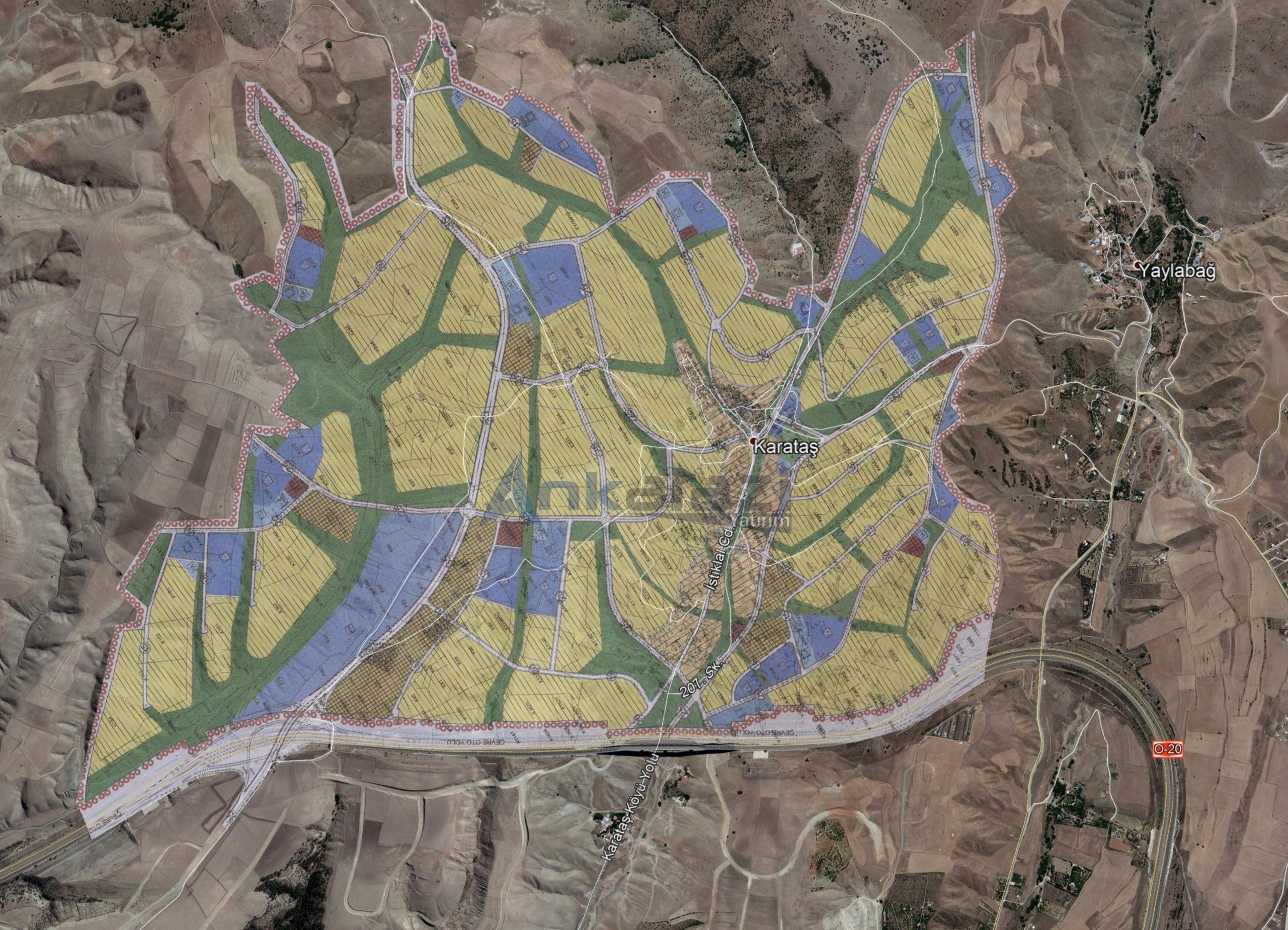 Çankaya-Karataş, Otoban Üstü 1/5000'lik Planı Askıda…