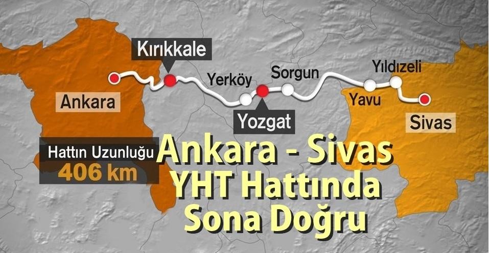 Ankara-Sivas Yüksek Hızlı Tren Hattı 2020'de Tamamlanıyor