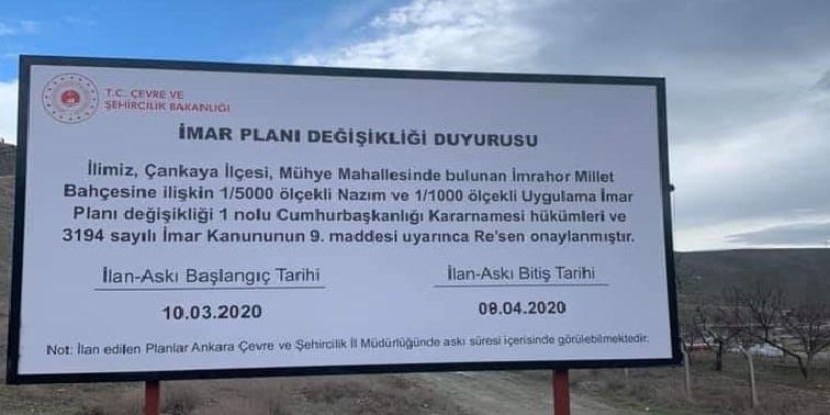 Kanal Ankara İmar Planı Değişiklikleri Askıda…