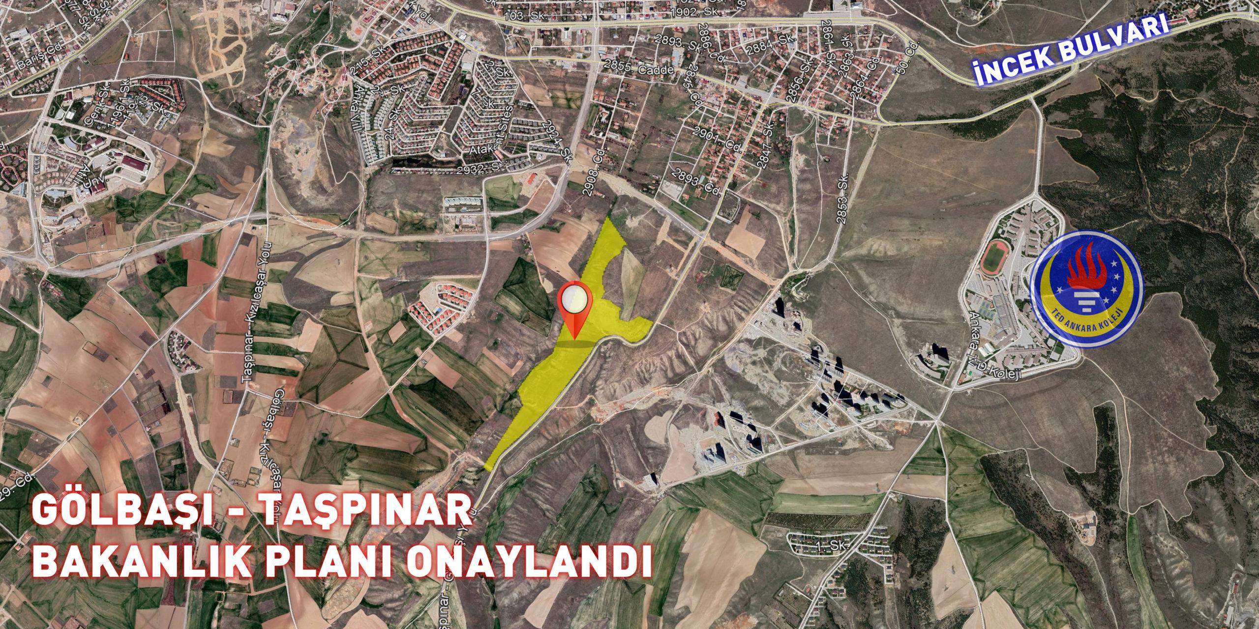 Gölbaşı, Taşpınar'da Çevre ve Şehircilik Bakanlığı Planı Onaylandı…